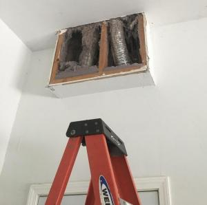 Dryer Vent Pipe Never Hooked Up Properly