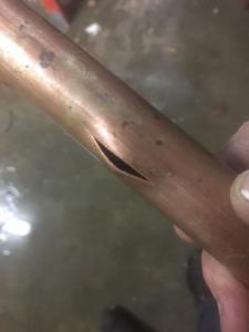 Piece Of Burst Copper Pipe